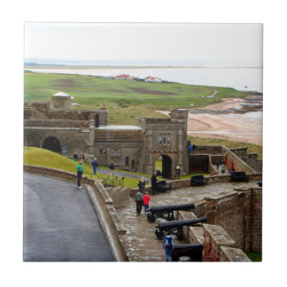 Bamburgh Castle, Northumberland, England Tile