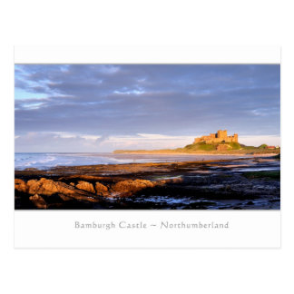 Bamburgh Castle Panorama - Postcard