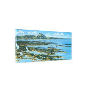 Bamburgh Castle with Lindisfarne Canvas Print