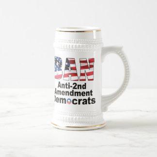 BAN Anti-2nd Amendment Democrats Beer Stein 18 Oz Beer Stein
