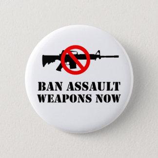 Ban Assault Weapons 6 Cm Round Badge