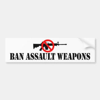 Ban Assault Weapons Bumper Sticker