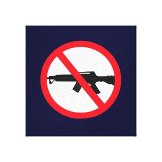 Ban Assault Weapons Wall Hanging Stretched Canvas Print