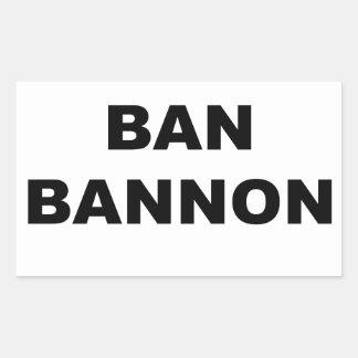 Ban Bannon Rectangular Sticker