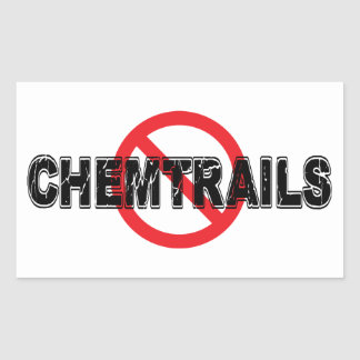 Ban Chemtrails Rectangular Sticker