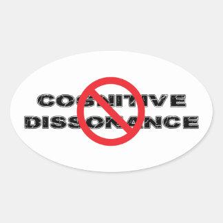 Ban Cognitive Dissonance Oval Sticker