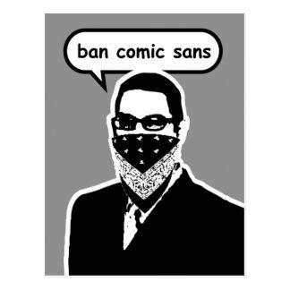 Ban Comic Sans Postcard