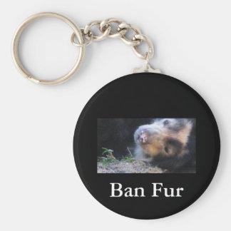 Ban Fur Key Ring