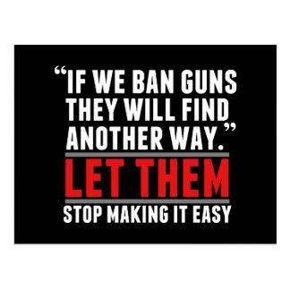 Ban Guns - Support Gun Reform Postcard