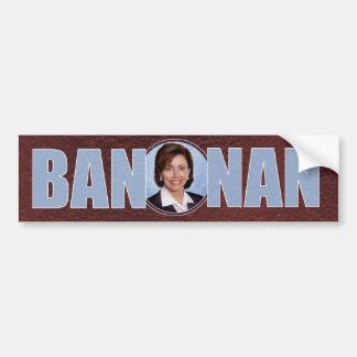 Ban Nan -- anti-Pelosi bumpersticker Car Bumper Sticker