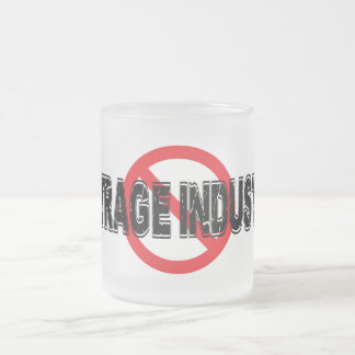 Ban Outrage Industry Frosted Glass Coffee Mug