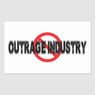 Ban Outrage Industry Rectangular Sticker