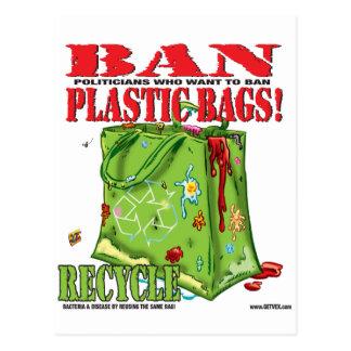 BAN PLASTIC BAGS POST CARDS