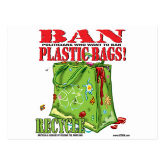 BAN... PLASTIC BAGS! POSTCARD
