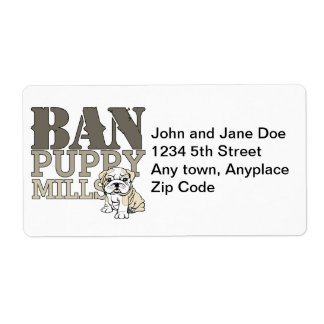 Ban Puppy Mills Shipping Label
