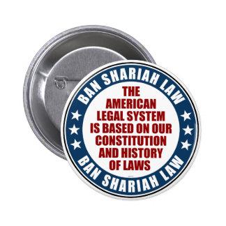 Ban Shariah Law 6 Cm Round Badge