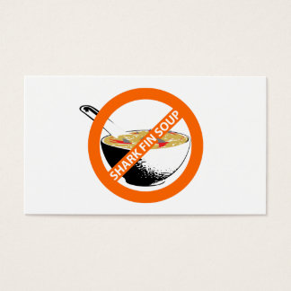 BAN SHARK FIN SOUP BUSINESS CARD