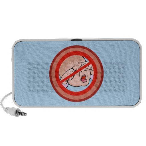 Ban the Brat No kids allowed iPod Speakers