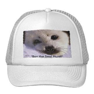 """Ban the Seal Hunt!"" Cap Hat"