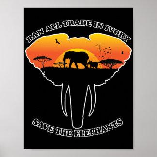 Ban trade ivory poster
