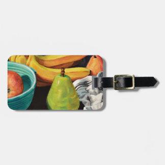 Banana Apple Pear Still Life Luggage Tag