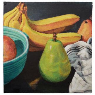 Banana Apple Pear Still Life Napkin