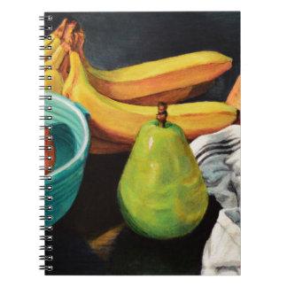 Banana Apple Pear Still Life Notebook