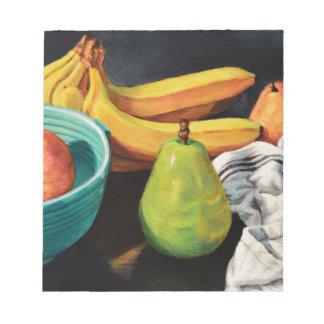 Banana Apple Pear Still Life Notepad