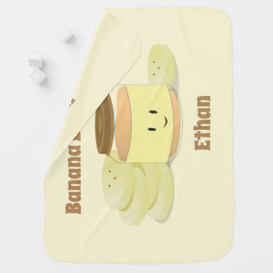 Banana Baby Food Cartoon | Baby Blanket