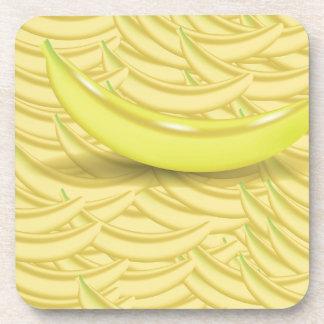 Banana Background Coaster