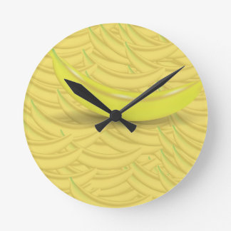 Banana Background Round Clock