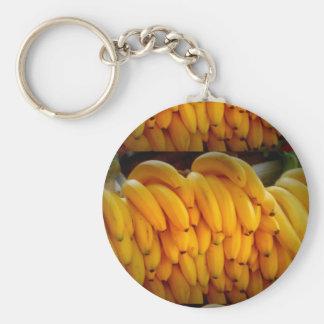 Banana Basic Button Keychain