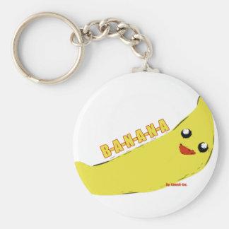 Banana Basic Round Button Key Ring