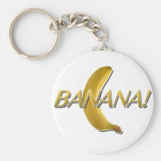 BANANA! BASIC ROUND BUTTON KEY RING
