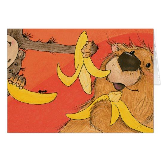 Banana Bear and Monkey / Note Card