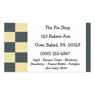 Banana Blueberry Pie Colors Double-Sided Standard Business Cards (Pack Of 100)