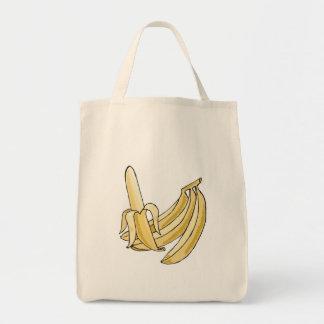 banana bunch grocery tote bag