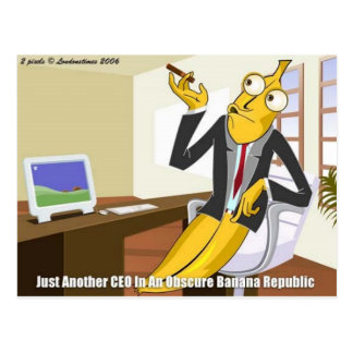 Banana CEO Funny Offbeat Cartoon Collectable Gifts Postcard