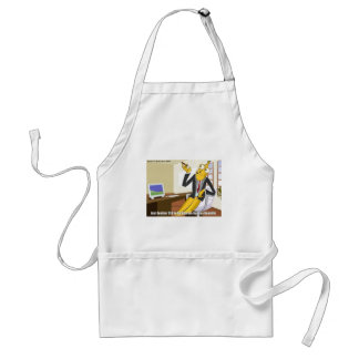 Banana CEO Funny Offbeat Cartoon Collectible Gifts Adult Apron
