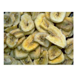 Banana chips postcard