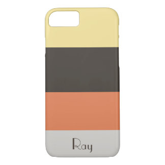 Banana Chocolate Orange Stripe Customize Name iPhone 8/7 Case