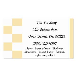 Banana Cream Pie Colors Business Card