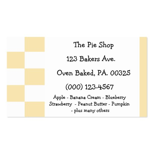 Banana Cream Pie Colors Business Card