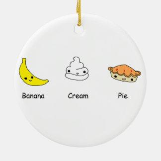 Banana Cream Pie Friends Ceramic Ornament