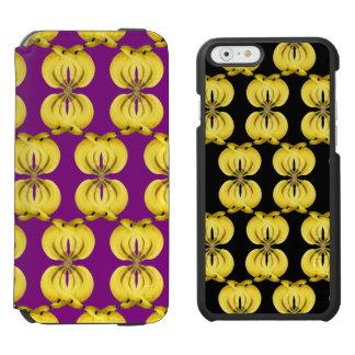 Banana Damask Golden Yellow Tropical Food Art Incipio Watson™ iPhone 6 Wallet Case