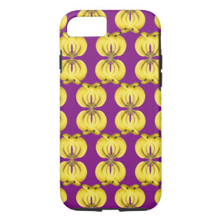 Banana Damask Golden Yellow Tropical Food Art iPhone 8/7 Case