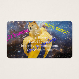 banana   - doge - shibe - space - wow doge business card