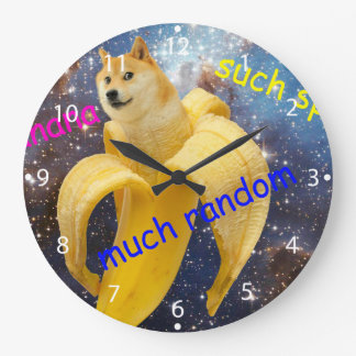 banana   - doge - shibe - space - wow doge large clock