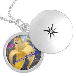 banana   - doge - shibe - space - wow doge locket necklace