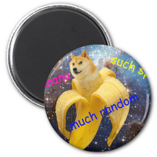 banana   - doge - shibe - space - wow doge magnet